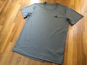 adidas CLIMALITE ドライTシャツ XO アディダス クライマライト 灰色 グレー 2XL ドライフィット スポーツ ジョギング ポリエステル100%
