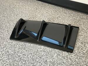 汎用アンダーカバー シャークフィン3 ドレスアップ 車用 リアディフューザー 黒色 リアバンパースポイラー カスタム外装パーツ