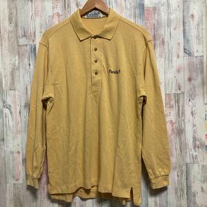 Paradiso パラディーゾ 長袖ポロシャツ size:M ゴルフウェア イエロー メンズ 210714-3