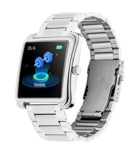 【爆安価格】YF1345 スマートウォッチ シルバースティール 通知 LINE 大画面 防水 健康管理 睡眠 血圧 心拍数 日本語 iphone/android
