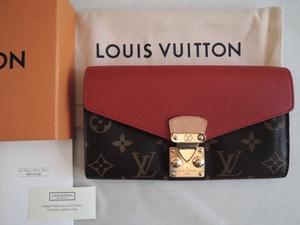 LOUIS VUITTON ルイヴィトン モノグラム ポルトフォイユ・パラス モノグラム×スリーズレッド M58414 財布/本物