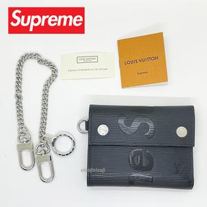 [100%正規品] 17AW Supreme シュプリーム × LOUIS VUITTON ルイ ヴィトン CH.CP WALLET Chain Wallet エピ レザーチェーンウォレット 財布