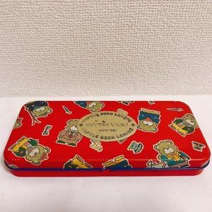 ■ サンリオ GABBY LEAGUE GENTLE BEAR LEAGUE 缶ペンケース 昭和 レトロ 筆箱 ヴィンテージ 中古
