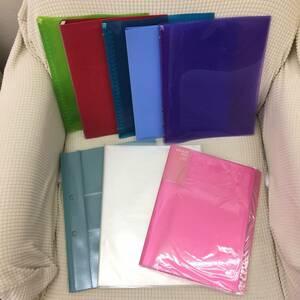 ファイル 8枚セット リングファイルやポケット式ファイルなど B5:6枚 A4:2枚 文房具 オフィス用品 店舗用品