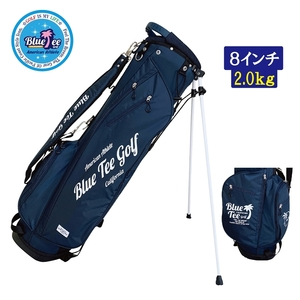☆【ネイビー:Classic Hawaiian】ブルーティーゴルフ 【軽量 スタンドバッグ:8.0型】クラシック ハワイアン キャディーバッグ