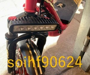 so494:オートバイ LED ヘッド ライト ペア モトクロス ATV ダート スポット フォグ ランプ ユニバーサル 汎用 ヤマハ カワサキ BMW対応