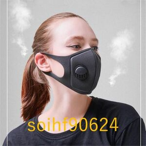 so142:スモッグ 防止 スポンジ フェイス マスク PM2.5 防塵 防曇 サイクリング用 呼吸 MTB 3.0 呼吸弁