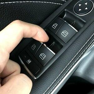 ◆新品◆ 窓 ガラス ウィンドウ リフト ボタン スイッチ カバー ステッカー トリム メルセデスベンツ CLA GLAクラス W176 W246 C117 X156