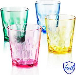 グラス 4個セット 250ml プレミアム グラス 割れない コップ トライタン加工