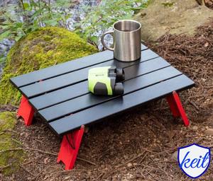 テーブル キャンプ アルミロールテーブル ブラック 折りたたみ 軽量 コンパクト キャンプ アウトドア 収納袋付き