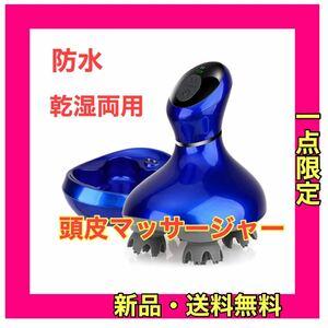 電動頭皮ブラシ スマート・振動版 IPX7防水 乾湿両用 日本3D技術 10分定時オフ 浴室利用可 USB充電 コードレス家庭用