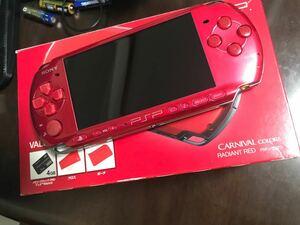 送料込美品限定色PSP 3000+メモリー4GB 満タン箱付新品バッテリー交換済