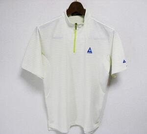 美品 le coq sportif GOLF COLLECTION ルコックゴルフ ハーフジップ 半袖シャツ サイズM ハイネック