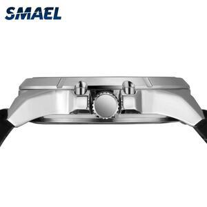【中古売ります】【最安値に挑戦】Smael腕時計ステンレススチールケース革時計自動日付レロジオmasculino 9118クォーツ時計メンズ腕時計