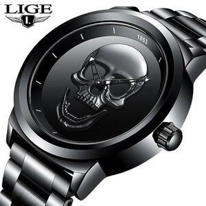 【中古売ります】【最安値に挑戦】レロジオmasculino 2020新ligeメンズ腕時計カジュアル3Dスカルフル鋼防水軍事スポーツクォーツ腕時計