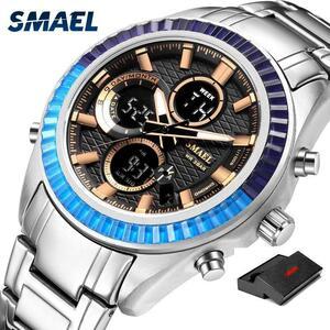 【中古売ります】【最安値に挑戦】Smaelスポーツメンズ腕時計topbrand高級クォーツ時計SL-1430鋼防水ビジネス腕時計ledレロジオmasculino