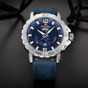 【中古売ります】【最安値に挑戦】NAVIFORCE 男性時計防水メンズ腕時計トップブランドの高級本革日付週時計レロジオ Masculino 2019