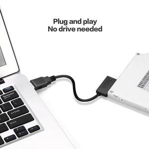 【中古売ります】【最安値に挑戦】USB3.0 ミニ sata ii 7 + 6 13Pin アダプタ変換ケーブルノートパソコンの cd/dvd rom スリムドライブ