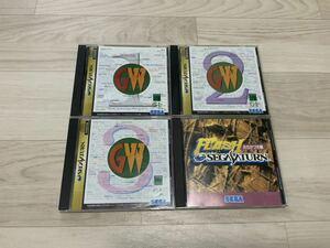 【ジャンク】セガサターン ロムマガジンと体験版ゲーム ソフト 4本セット SEGA SATURN セガサタ SS 動作未確認 説明書 帯一部あり