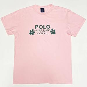 ■POLO RALPH/ポロ・ラルフローレン・プリントTシャツ・ピンクM美品■XL位