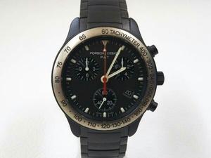 PORSCHE DESIGN 6610.14 ポルシェデザイン クロノグラフ クォーツ メンズ オールブラック 腕時計