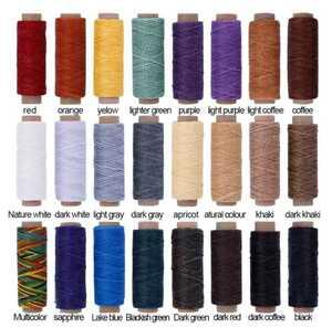 レザークラフト ロウ引き糸 24色セット