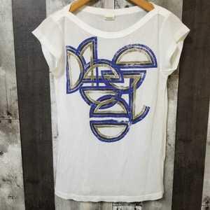 DIESEL ディーゼル Tシャツ Sサイズ カットソー 薄手 レディース ホワイト系
