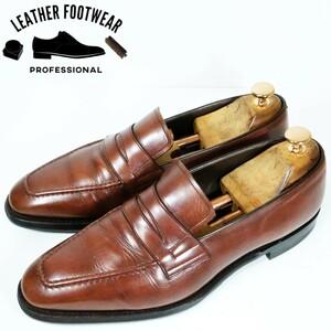 REGAL リーガル サイズ:25cm コイン ローファー ペニー ブラウン 茶 ビジネス シューズ 革靴 日本製