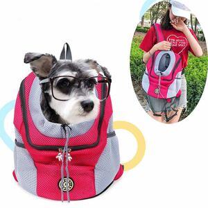 キャリーバッグリュック S/M 安心のペットバッグ 猫・犬 飛び出し防止お出かけ快適 リュック