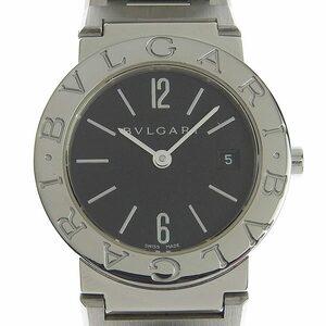 ブルガリ BVLGARI ブルガリブルガリ レディース クォーツ 腕時計 SS ブラック文字盤 BB26SS 中古 新入荷 BV0120