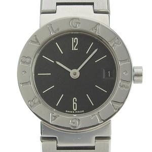 ブルガリ BVLGARI ブルガリブルガリ レディース クォーツ 腕時計 SS ブラック文字盤 BB23SS 中古 新入荷 BV0123