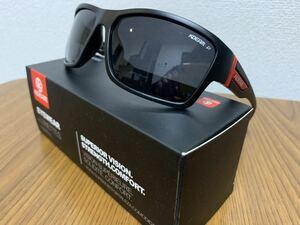 新品未使用♪kdeam最新偏光レンズサングラス ブラックレンズ(赤) 即購入可!