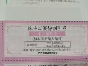 名鉄 株主優待 株主ご優待割引券 杉本美術館 名古屋鉄道