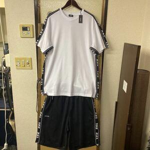 【新品】DIESEL ビッグサイズ サイドロゴテープ Tシャツ ショートパンツ 上下セット XLサイズ