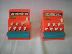 昭和レトロ レトロ玩具 キャッシュ レジスター 2個セット ジャンク