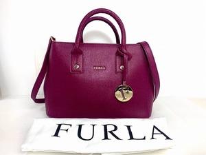 新品同様★送料無料★ フルラ FURLA レザー 2way ショルダーバッグ トートバッグ