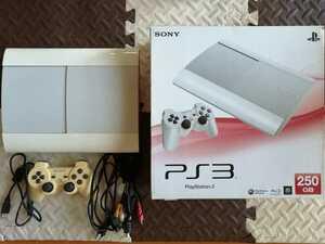 PS3 ワンオーナー 本体美品 PlayStation 3 250GB クラシック・ホワイト (CECH-4000B LW) 初期化・動作確認済み プレイステーション3