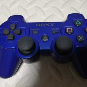 美品 PS3 コントローラー 純正 メタリックブルー デュアルショック3 DUALSHOCK3  送料無料 SONY プレステ3 動作確認済み