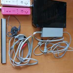 Wii Nintendo 任天堂 人気の黒 ブラック 本体一式 動作確認済み リモコン2個