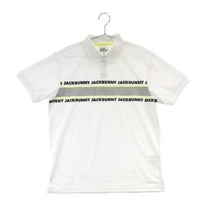 JACK BUNNY ジャックバニー 2020年モデル 半袖ポロシャツ プリント ロゴ ホワイト系 7 [240001543420] ゴルフウェア メンズ