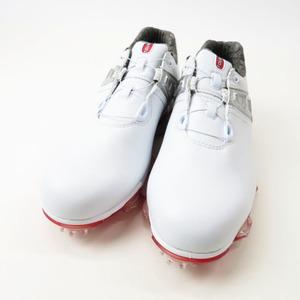 【美品】FOOT JOY フットジョイ 2020年モデル ゴルフシューズ ツアー X Boa ホワイト×レッド ホワイト系 24.5cm [240001514924] ゴルフ