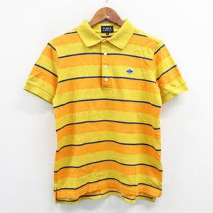 PEARLY GATES パーリーゲイツ 半袖ポロシャツ ボーダー柄 イエロー系 5 [240001523914] ゴルフウェア メンズ