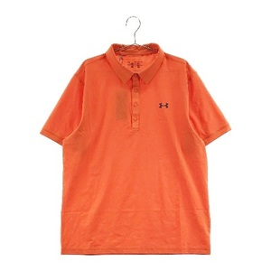 【新品】UNDER ARMOUR アンダーアーマー 半袖 ポロシャツ 格子柄 オレンジ系 XXL [240001578178] ゴルフウェア メンズ