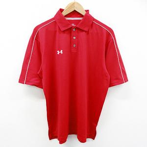 【即決】UNDER ARMOUR アンダーアーマー 半袖ポロシャツ レッド系 MD [240001503703] ゴルフウェア メンズ