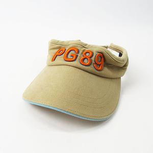 【即決】PEARLY GATES パーリーゲイツ サンバイザー 刺繍 ベージュ系 M [240001521721] ゴルフウェア メンズ