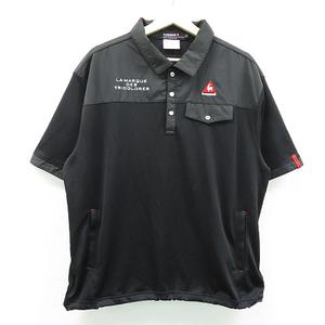 【即決】Lecoq golf ルコックゴルフ 半袖ポロシャツ ブラック系 LL [240001348485]【中古】メンズ