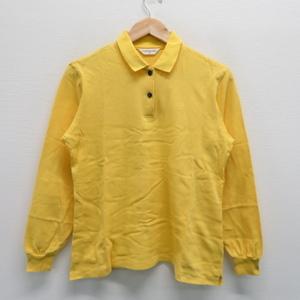 【即決】MUNSING WEAR マンシングウェア 長袖ポロシャツ イエロー系 L [240001306010]【中古】メンズ