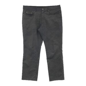 【即決】LANVIN SPORT ランバン スポール パンツ 総柄 ブラック系 92 [240001575482] ゴルフウェア メンズ