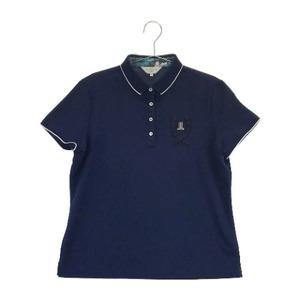 【即決】LANVIN SPORT ランバン スポール 半袖ポロシャツ ネイビー系 44 [240001579963] ゴルフウェア レディース