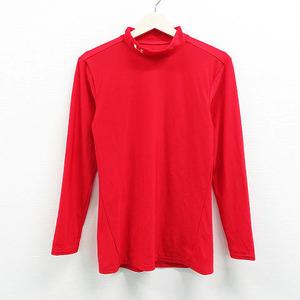 【即決】UNDER ARMOUR アンダーアーマー ハイネックインナーTシャツ レッド系 XL [240001395310] ゴルフウェア メンズ